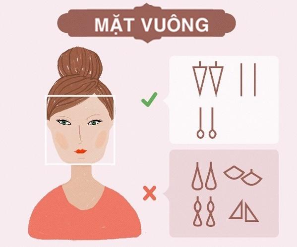 Cách chọn bông tai theo khuôn mặt vuông