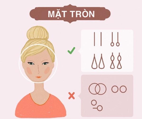 Cách chọn bông tai theo khuôn mặt tròn