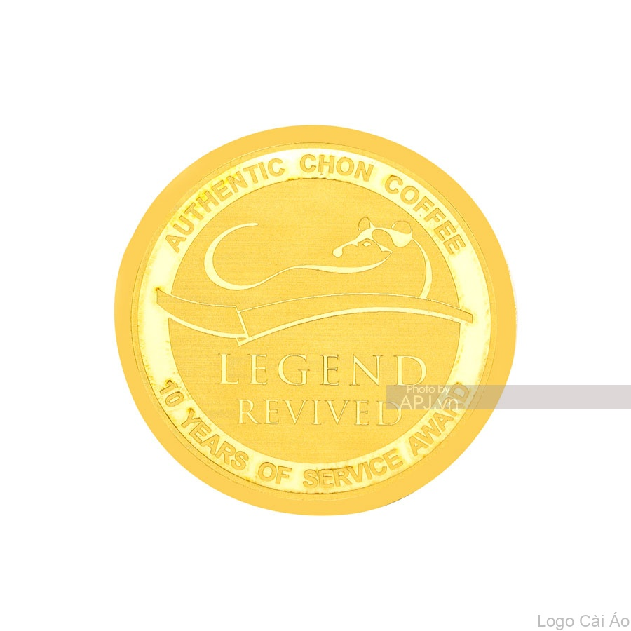 Logo Cài Áo Vàng Vàng 24K - Logo Cài Áo