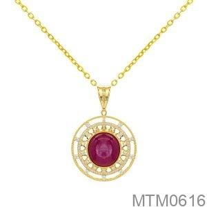 Mặt Nữ Vàng Vàng 18K -  MTM0616