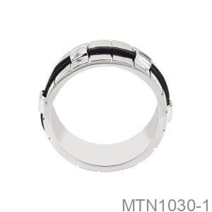 Nhẫn Nam Lông Voi Vàng Trắng 10K - MTN1030-1