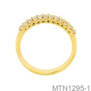 Nhẫn Nữ Vàng Vàng 18K Đá Trắng - MTN1295-1