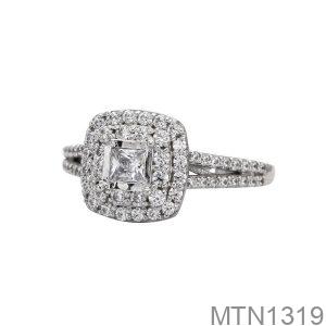 Nhẫn Nữ Vàng Trắng 10K -  MTN1319