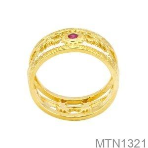 Nhẫn Nam Rồng Vàng Vàng 18K Đá Đỏ - MTN1321