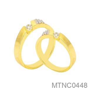 Nhẫn Cưới Hai Màu Vàng 18K - MTNC0448