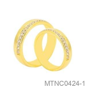 Nhẫn Cưới Vàng Vàng 18K - MTNC0424-1