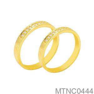 Nhẫn Cưới Vàng Vàng 18K - MTNC0444
