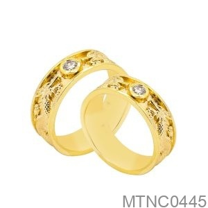 Nhẫn Cưới Vàng Vàng 18K - MTNC0445