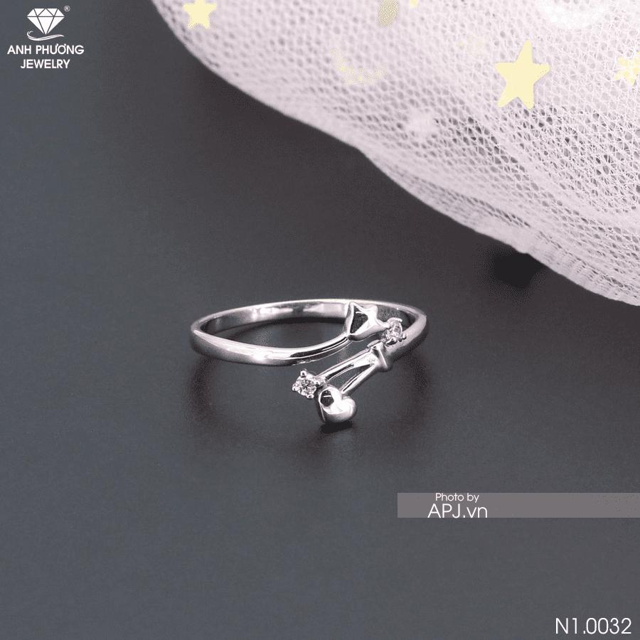 nhẫn vàng nữ 14k đơn giản