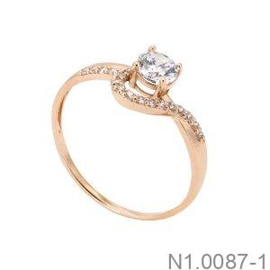 Nhẫn Nữ Vàng Hồng 14K -  N1.0087-1