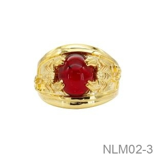 Nhẫn Nam Bọ Cạp Vàng Vàng 18k Đá Đỏ - NLM02-3