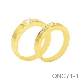 Nhẫn Cưới Vàng Vàng 18K - QNC71-1