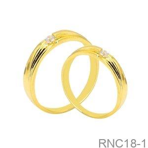 Nhẫn Cưới Vàng Vàng 18K - RNC18-1