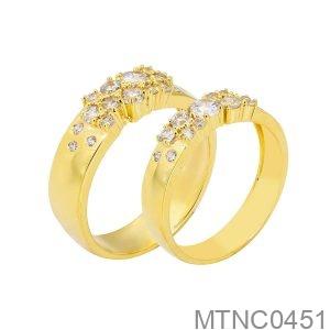 Nhẫn Cưới Vàng Vàng 18K - MTNC0451