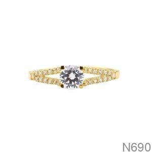 Nhẫn Nữ Vàng Vàng 18K - N690