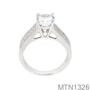 Nhẫn Nữ Vàng Trắng 10K - MTN1326
