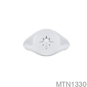 Nhẫn Nam Vàng Trắng 14K - MTN1330