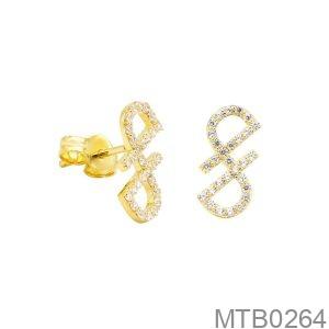 Bông Tai Vàng Vàng 18K - MTB0264