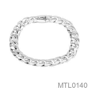Lắc Nam Vàng Trắng 10K - MTL0140