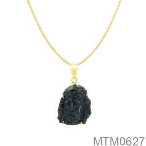 Mặt Dây Vàng Vàng 18K Đá Đen - MTM0627