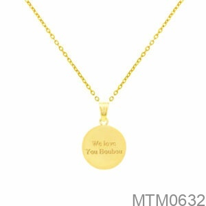 Mặt Nữ Vàng Vàng 18K - MTM0632