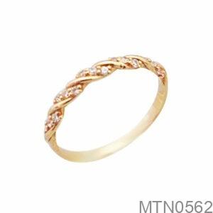 Nhẫn Nữ Vàng Vàng 18k Đá Trắng - MTN0562