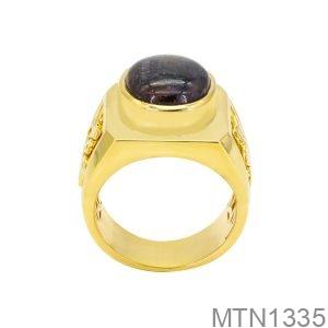Nhẫn Nam Vàng Vàng 18K Đá Đen - MTN1335