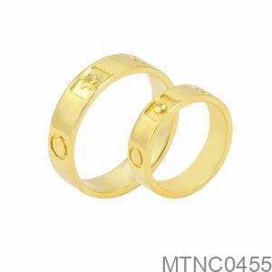 Nhẫn Cưới Vàng Vàng 18K - MTNC0455