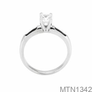 Nhẫn Nữ Vàng Trắng 10K Đá Trắng - MTN1342