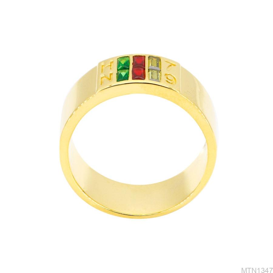 Nhẫn Nam Vàng Vàng 18k Đá Màu - MTN1347