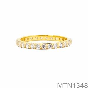 Nhẫn Nữ Vàng Vàng 18K Đá Trắng - MTN1348