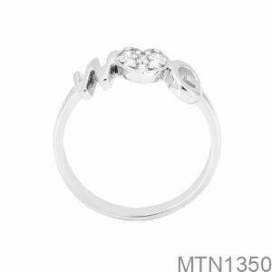 Nhẫn Nữ Vàng Trắng 10K Đá Trắng - MTN1350