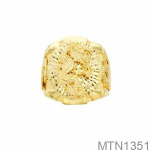 Nhẫn Nam Rồng Vàng Vàng 18K - MTN1351