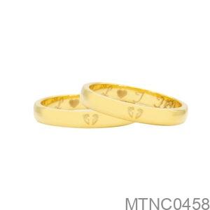 Nhẫn Cưới Vàng Vàng 18K - MTNC0458