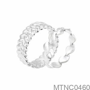 Nhẫn Cưới Vàng Trắng 10K - MTNC0460