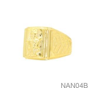 Nhẫn Nam Vàng Vàng 18K - NAN04B