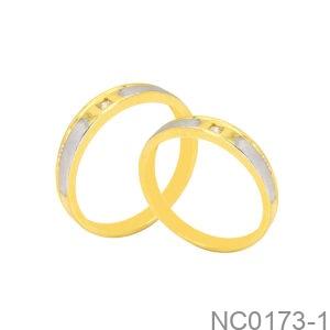 Nhẫn Cưới Hai Màu Vàng 18K - NC0173-1