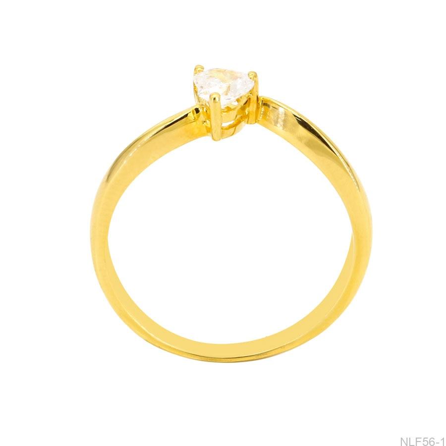 Nhẫn Nữ Vàng Vàng 18K Đá Trắng - NLF56-1