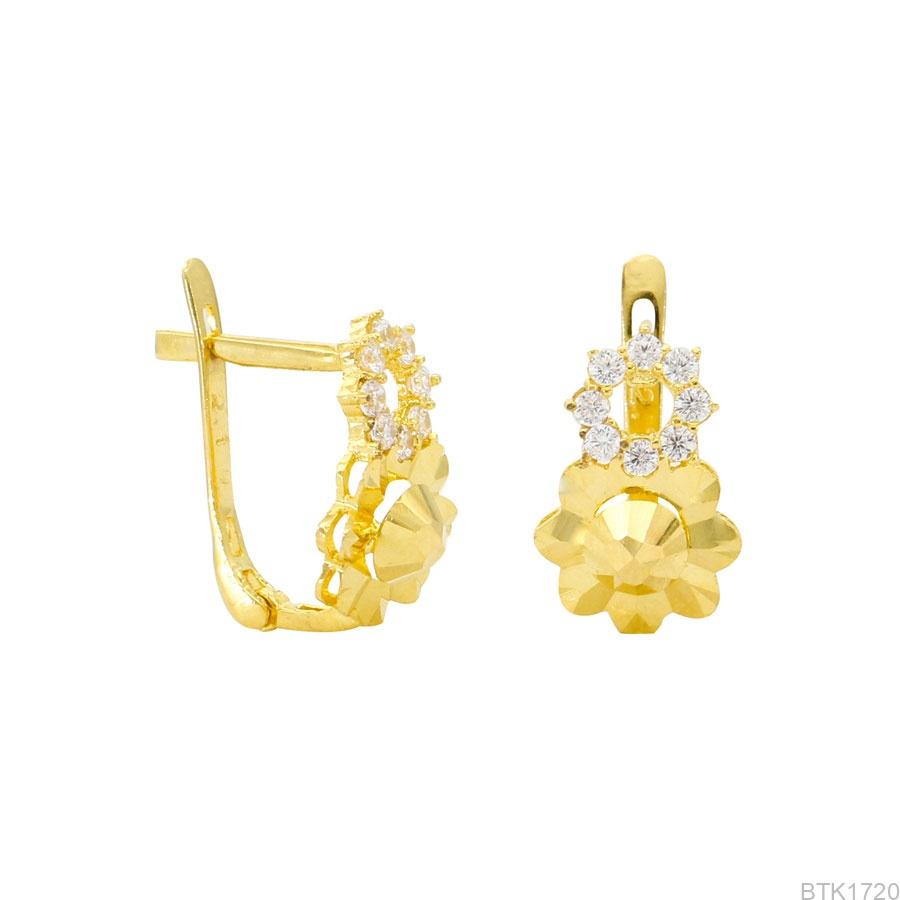 Bông Tai Vàng Vàng 18K - BTK1720