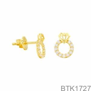 Bông Tai Vàng Vàng 18K - BTK1727