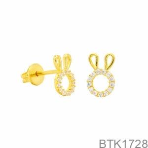 Bông Tai Vàng Vàng 18K - BTK1728