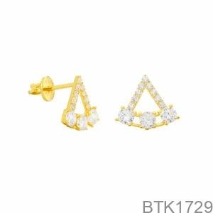Bông Tai Vàng Vàng 18K - BTK1729