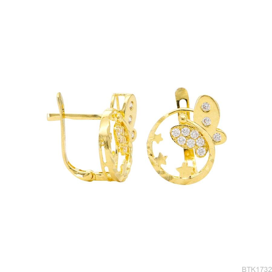 Bông Tai Vàng Vàng 18K - BTK1732