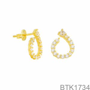 Bông Tai Vàng Vàng 18K - BTK1734