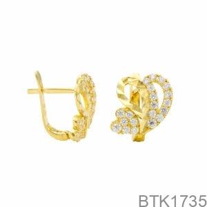 Bông Tai Vàng Vàng 18K - BTK1735