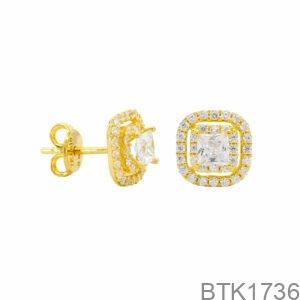 Bông Tai Vàng Vàng 18K - BTK1736