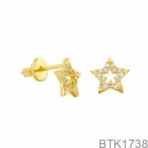 Bông Tai Vàng Vàng 18K - BTK1738