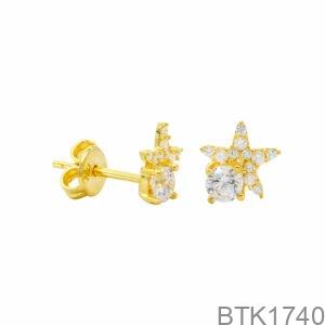 Bông Tai Vàng Vàng 18K - BTK1740