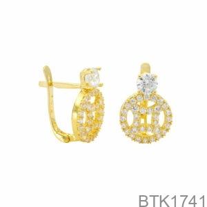 Bông Tai Vàng Vàng 18K - BTK1741