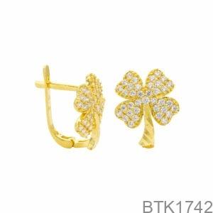 Bông Tai Vàng Vàng 18K - BTK1742
